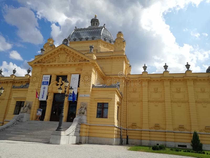 Teatro en Zagreb fotos de archivo