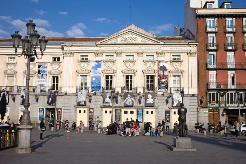 Teatro Espanol在马德里 免版税图库摄影