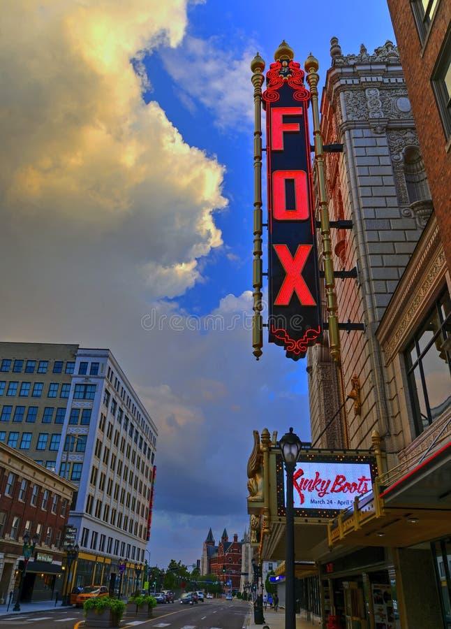 Teatro fabuloso del Fox en St. Louis fotografía de archivo libre de regalías