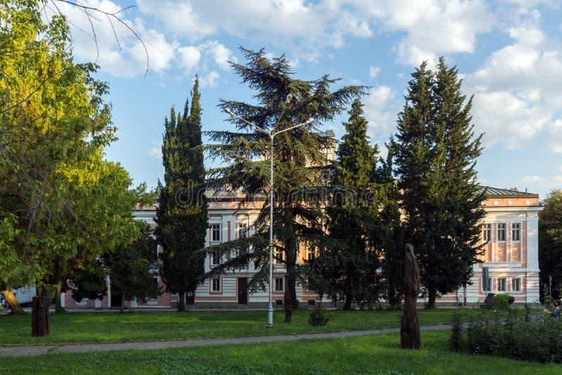 Teatro Geo Milev a Stara Zagora (Bulgaria) fotografia stock libera da diritti