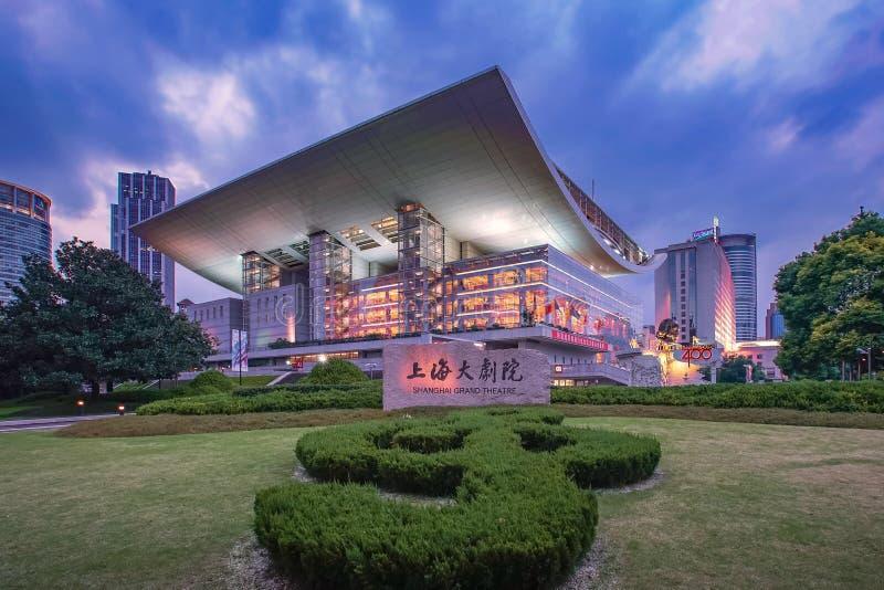 Teatro grande de Shanghai fotografia de stock