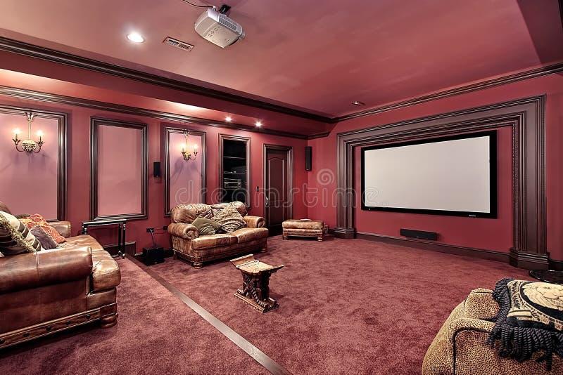 Teatro grande en hogar de lujo fotos de archivo