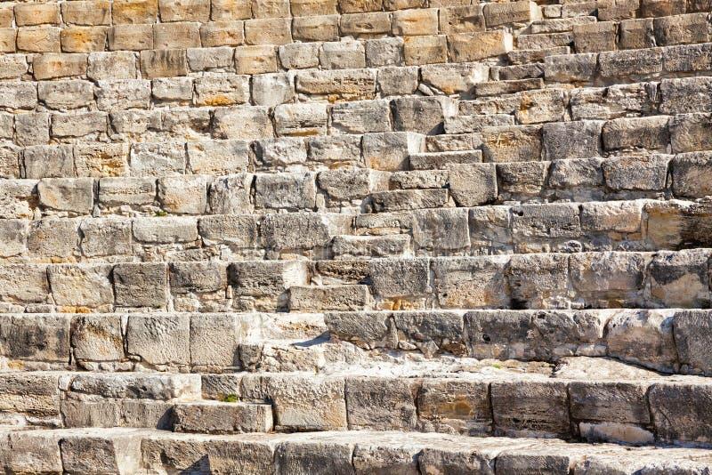 Teatro Greco-romano antico in Kourion, Cipro fotografie stock libere da diritti