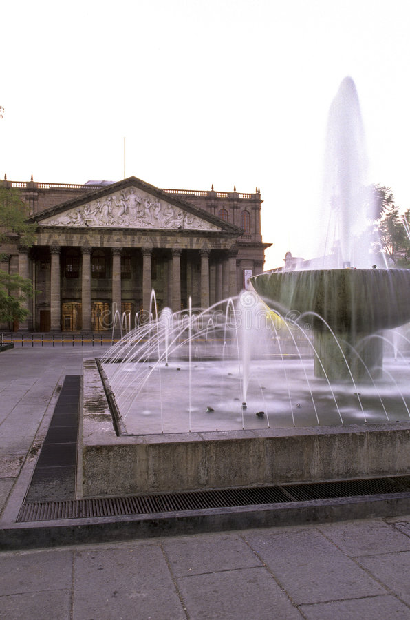 teatro guadalajara Мексики degollado стоковые фото