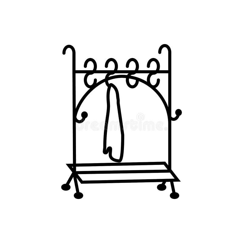 Teatro, guardaroba Icona di vettore dell'illustrazione illustrazione di stock