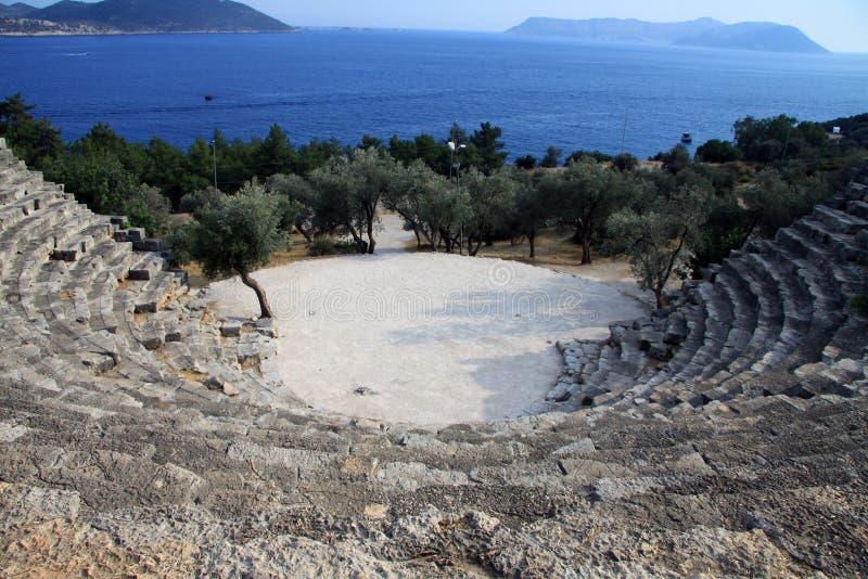 Teatro Hellenistic de Kas 2 fotografia de stock