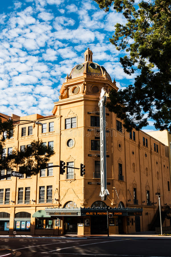 Teatro histórico do balboa em San Diego, Califórnia foto de stock