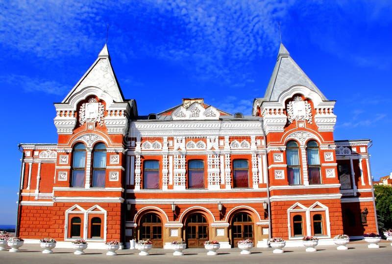 Teatro histórico do drama no Samara fotos de stock royalty free