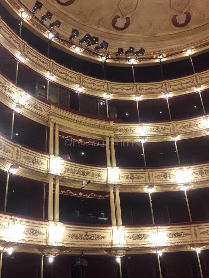 Teatro histórico em Montevidéu no Uruguai fotografia de stock royalty free