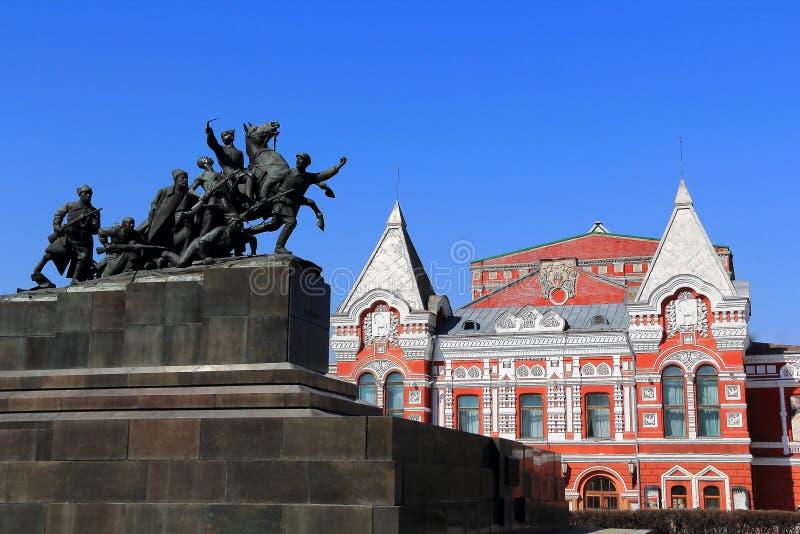Teatro histórico no Samara fotografia de stock royalty free