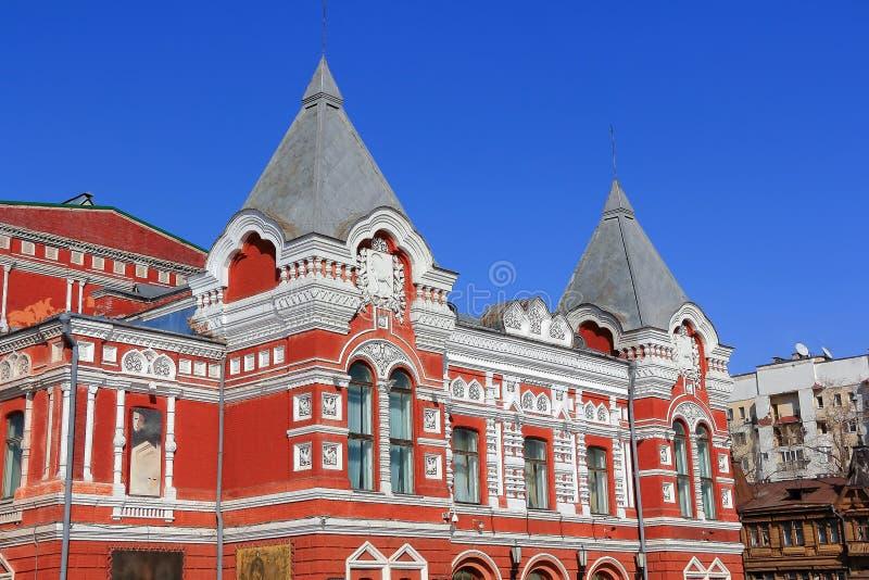 Teatro histórico no Samara fotos de stock