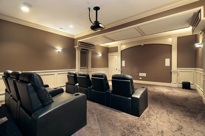 Teatro Home com assento do estádio fotos de stock royalty free