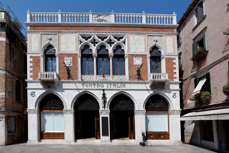 Teatro Italia, teatro italiano, Venecia, Venezia, Italia, Italia imágenes de archivo libres de regalías