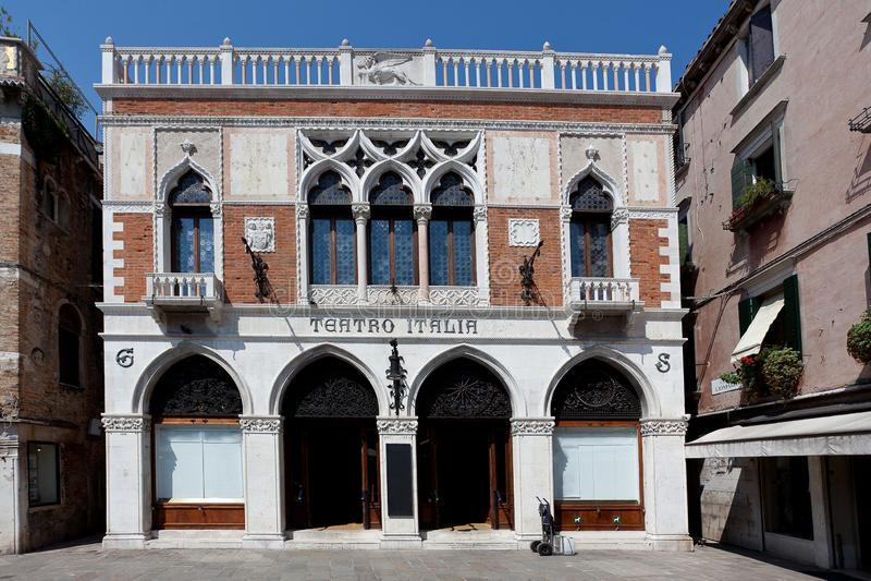 Teatro Italia, teatro italiano, Veneza, Venezia, Itália, Italia imagens de stock royalty free