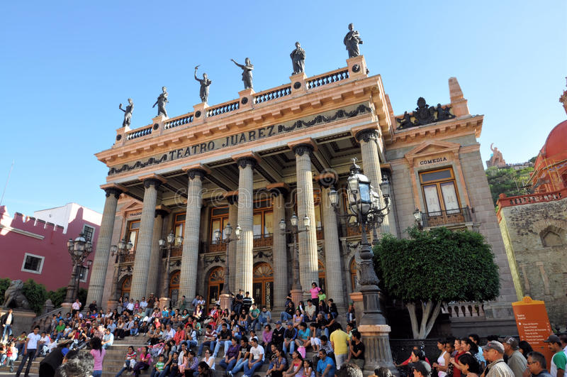 Teatro Juarez Guanajuato royalty-vrije stock foto