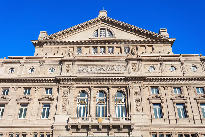 Teatro kolon, Buenos Aires royaltyfria bilder