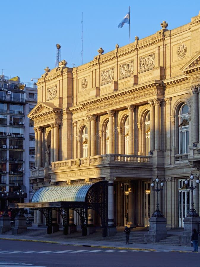 Teatro kolon i Buenos Aires arkivfoton