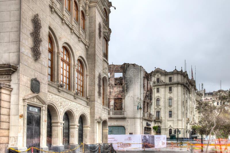 Teatro kolon i Lima, Peru royaltyfria foton
