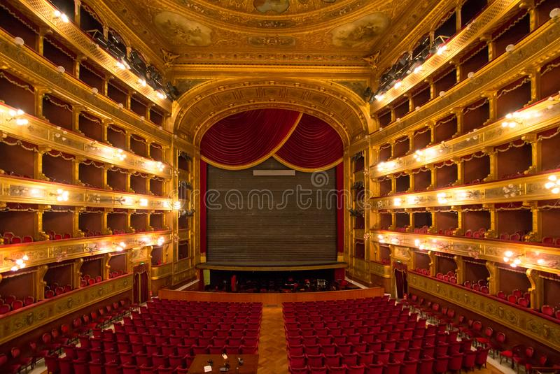 Teatro Máximo, Palermo, Italia fotografía de archivo libre de regalías