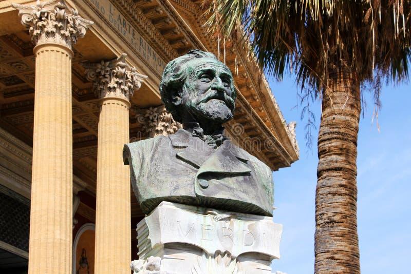Teatro Máximo, Palermo, verdi de José imagen de archivo libre de regalías