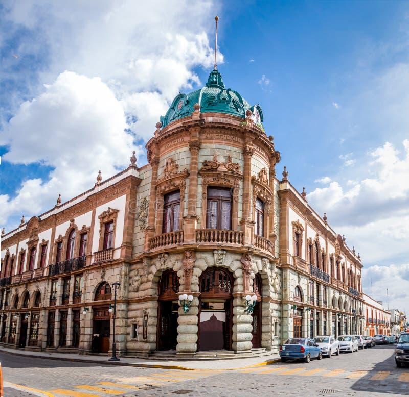 Teatro Macedonio Alcala - Oaxaca, México imagens de stock