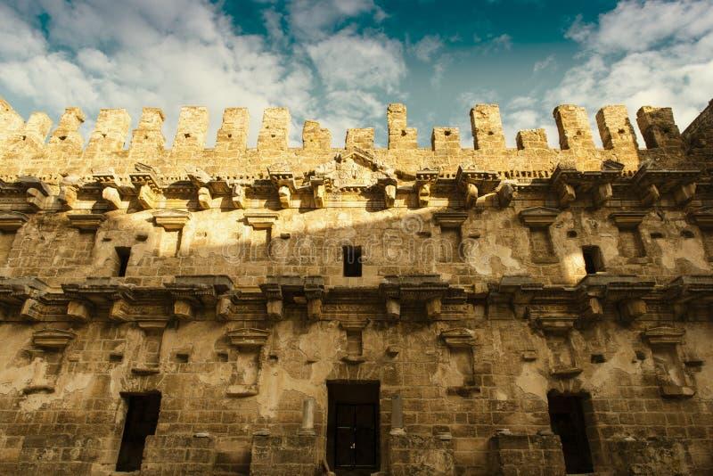 Teatro magnífico de Aspendos, Turquía imagenes de archivo