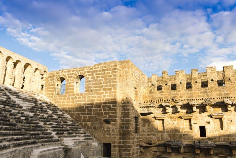Teatro magnífico de Aspendos, Turquía imágenes de archivo libres de regalías