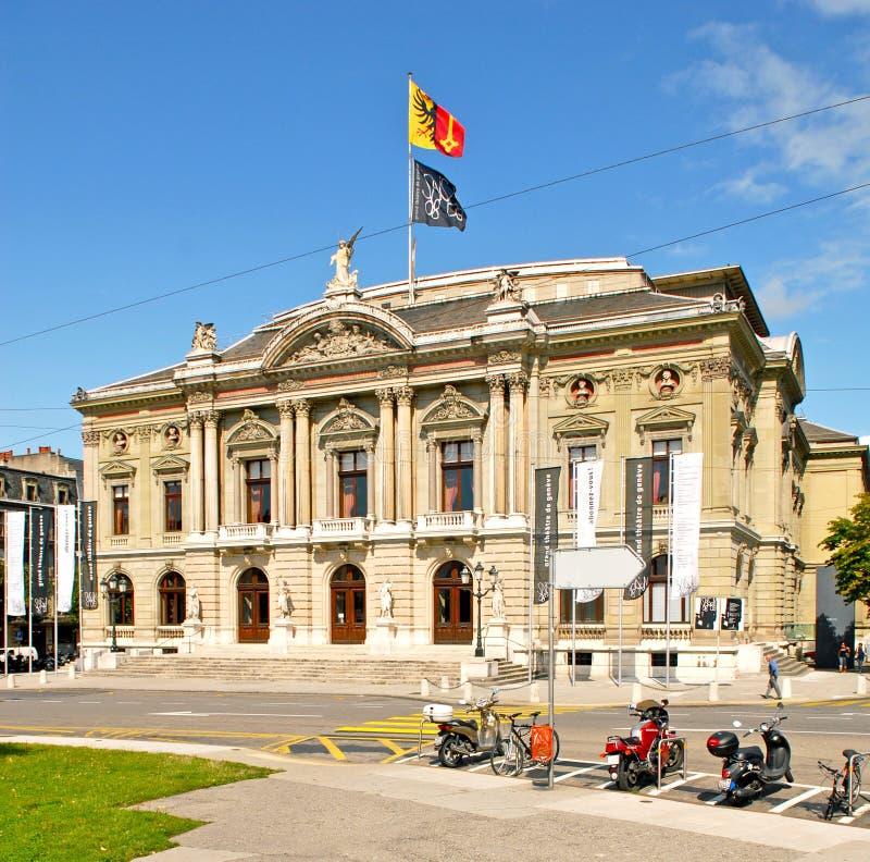 Teatro magnífico de Geneve/teatro magnífico de Ginebra fotos de archivo libres de regalías