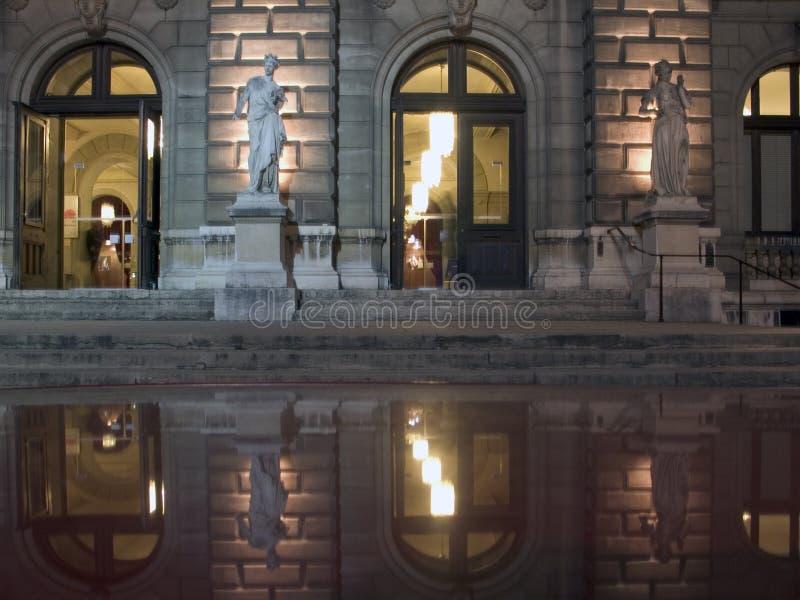 Teatro magnífico de Ginebra foto de archivo libre de regalías