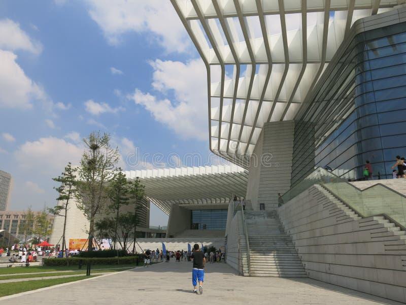 Teatro magnífico de Qingdao imagenes de archivo