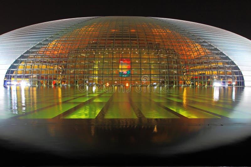 Teatro magnífico nacional de Pekín imagenes de archivo