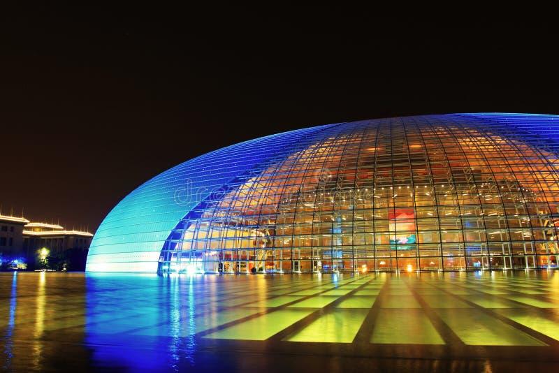 Teatro magnífico nacional de Pekín imagen de archivo libre de regalías