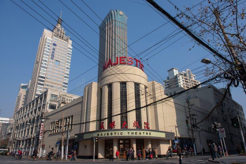 Teatro majestuoso, Shangai fotografía de archivo libre de regalías