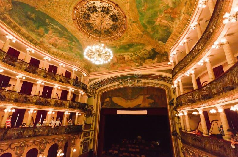 Teatro Manaus el Brasil de Amazonas imágenes de archivo libres de regalías