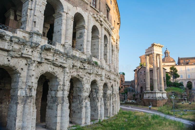 Teatro Marcello de Rome, Italie l'Europe image libre de droits