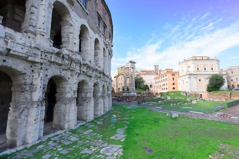 Teatro Marcelo в Риме, Италии стоковая фотография