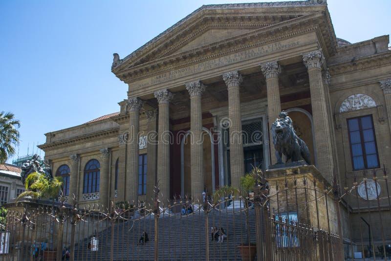 Teatro Massimo, Palermo, Sicilia, Italia fotografia stock