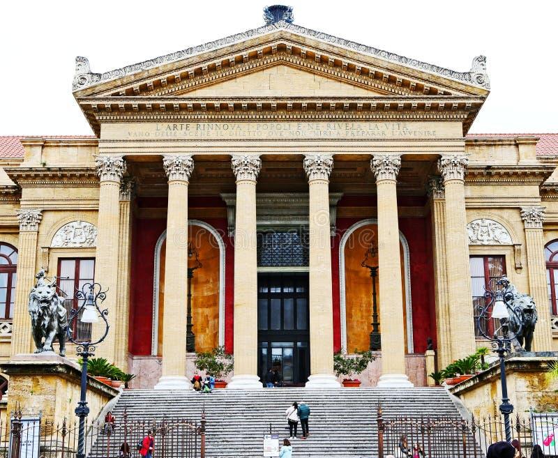 Teatro Massimo, Palermo fotografie stock libere da diritti
