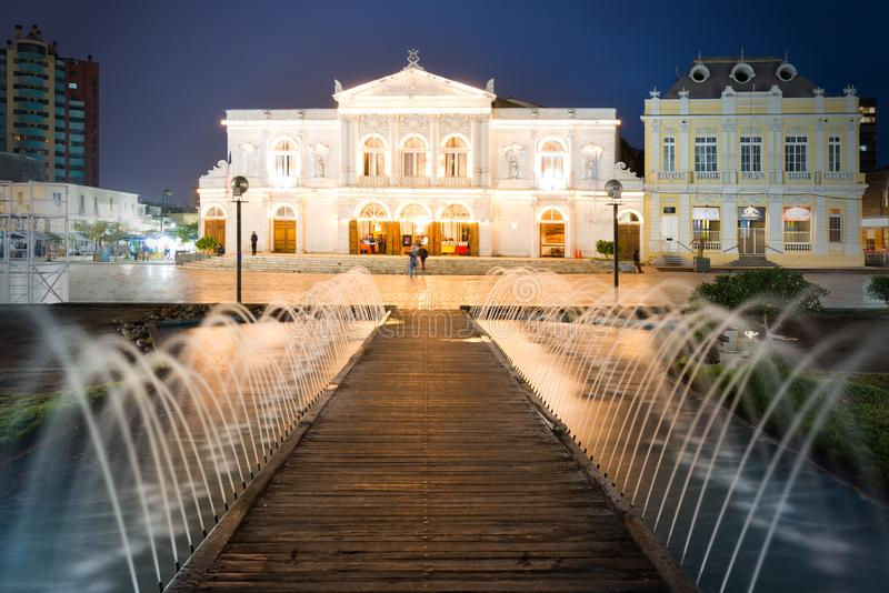 Teatro Municipal DE Iquique in Chili stock afbeelding