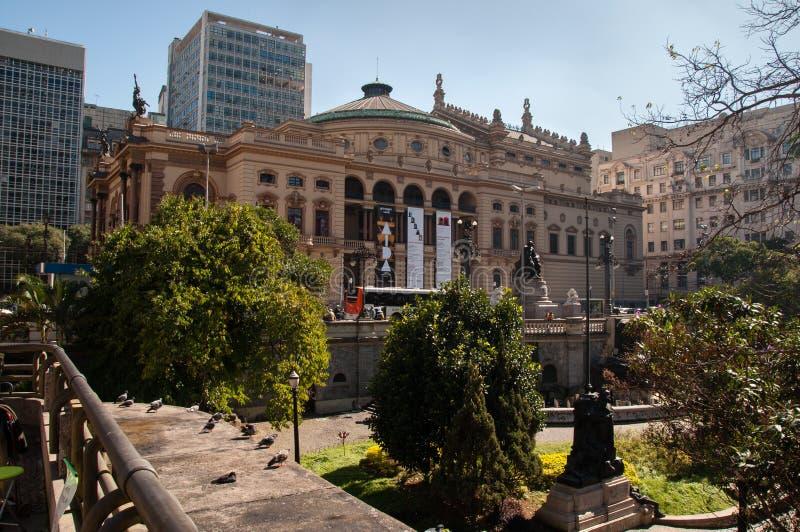 Teatro municipal de Sao Paulo imagem de stock royalty free