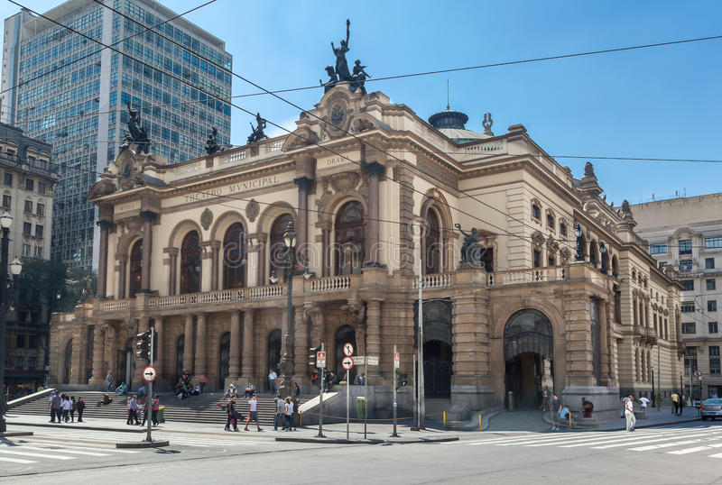 Teatro municipal Sao Paulo Brasil imagens de stock