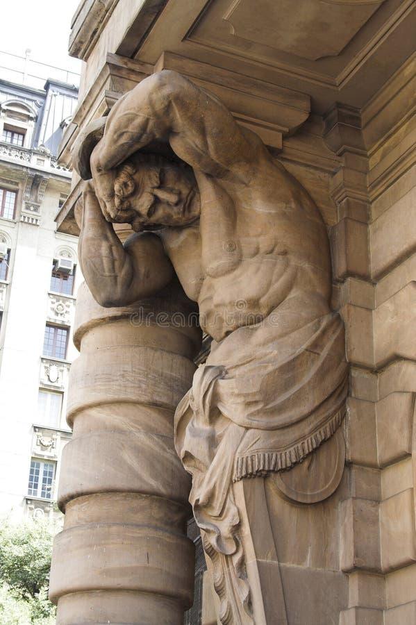 Teatro municipal Sao Paulo de la escultura fotos de archivo