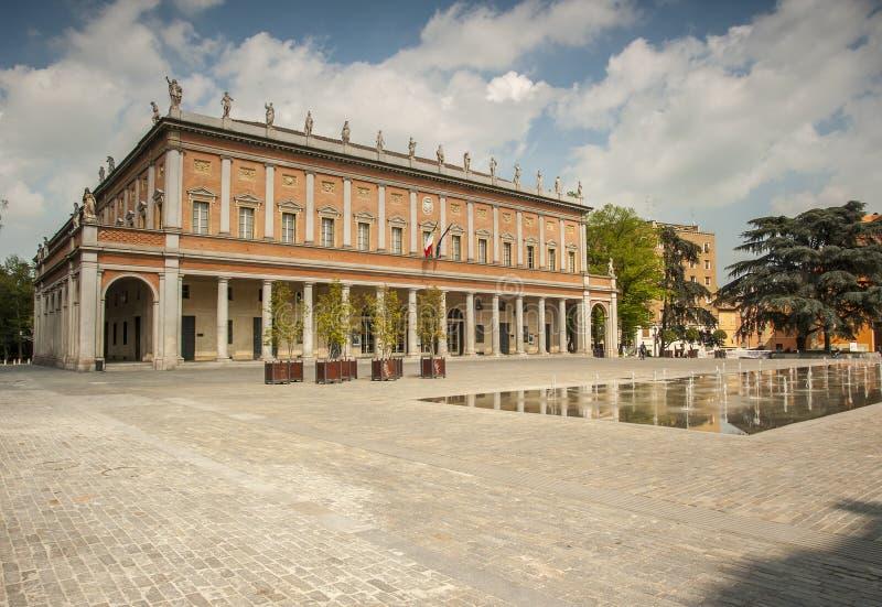Teatro Municipale Valli, Reggio nell'Emilia, Emilia Romagna, Italia fotografia stock