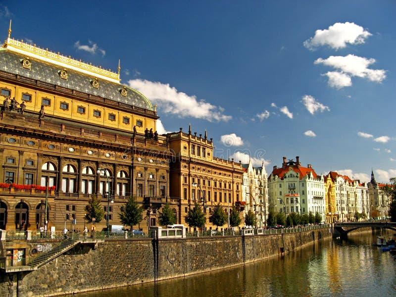 Teatro nacional 02 de Praga imagem de stock royalty free