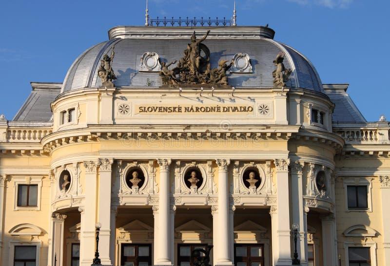 Teatro nacional, Bratislava foto de stock royalty free