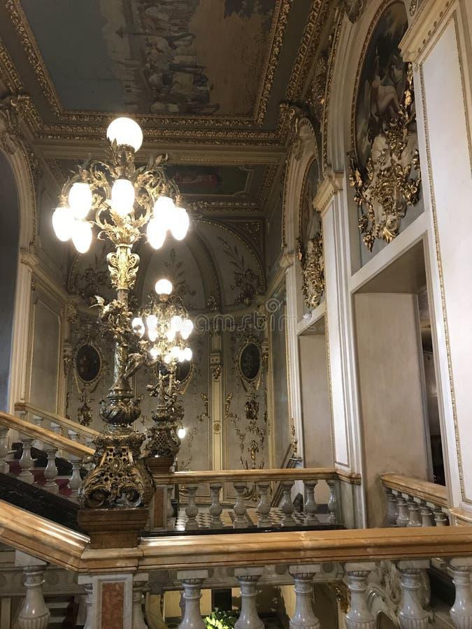 Teatro nacional calidad 5 interiores de Panamá de la mejor imagen de archivo libre de regalías