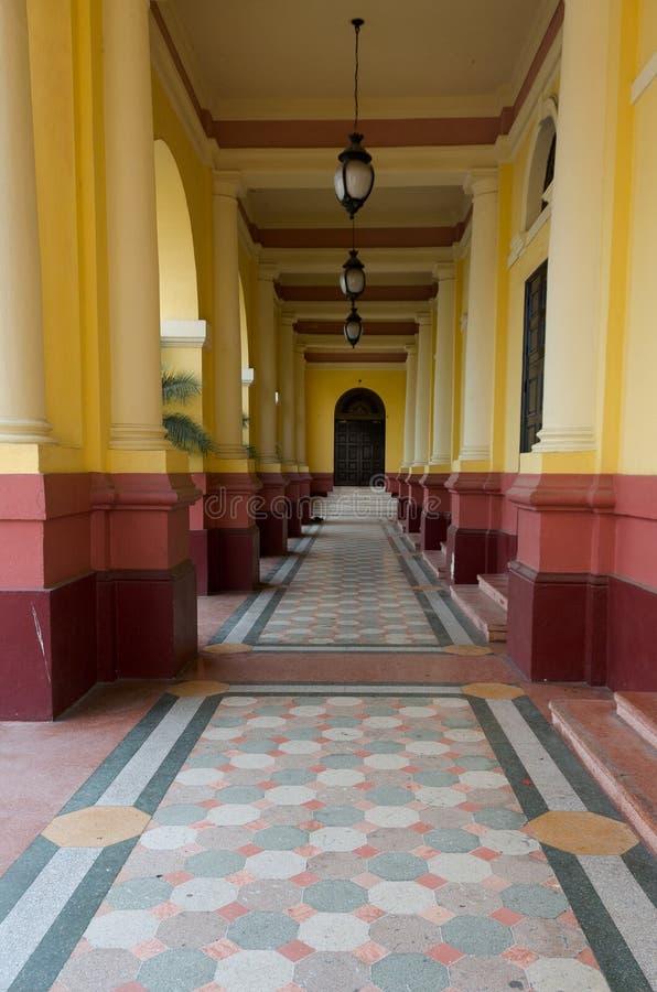 Teatro Nacional Casco Viejo Panama immagini stock