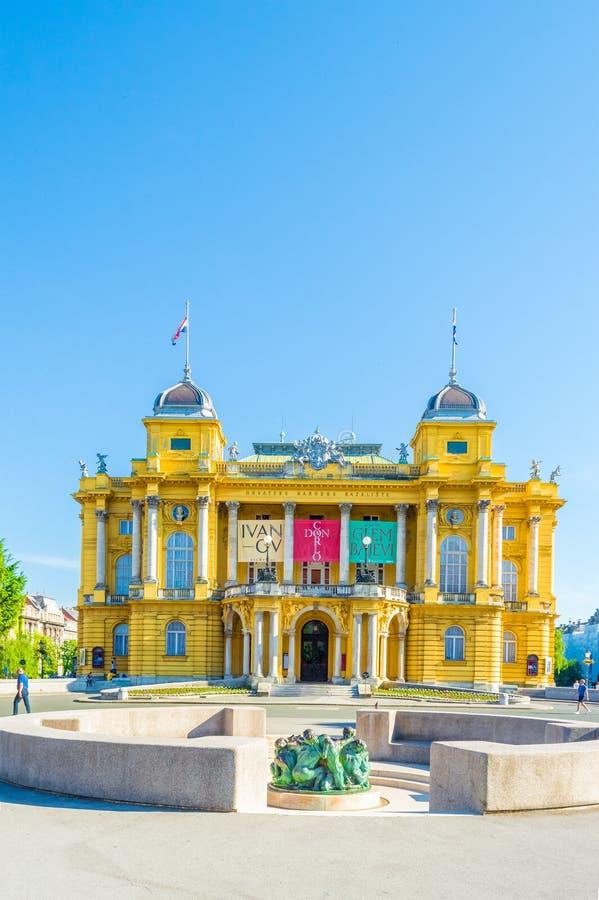 Teatro nacional croata fotografía de archivo