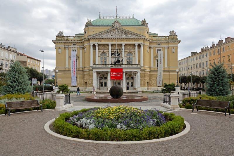 Teatro nacional croata fotografía de archivo libre de regalías