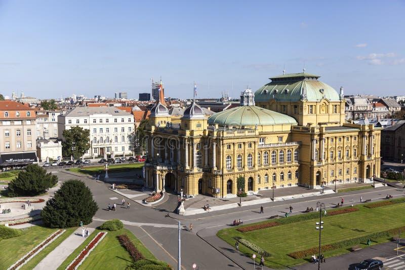 Teatro nacional croata imagenes de archivo